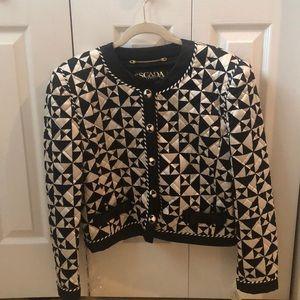 ESCADA black and white silk jacket
